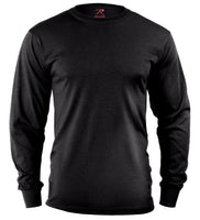 LS T-shirt Black Long Sleeve Cotton Polyester Blend Rothco 60212