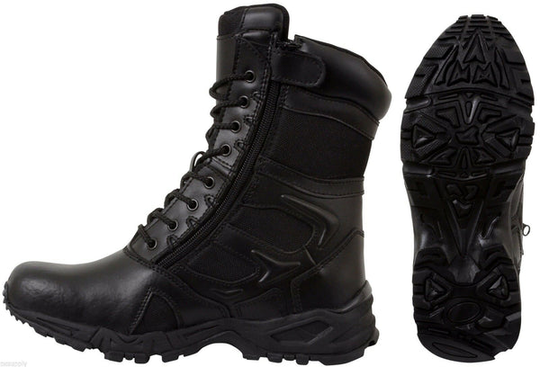 Black Forced Entry Tactical Boot Deployment Military Combat Boots rothco 5358