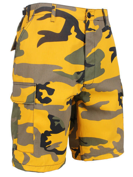Shorts Camo Yellow Stinger Cargo BDU Military Style Camouflage Mens Rothco 65007