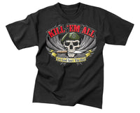 Black Military T-shirt Kill Em All Let God Sort Em Out Mens Tee Rothco 66160