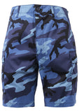 shorts camo bdu military style cargo sky blue camouflage mens rothco 65218