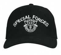 Special Forces Military Baseball Cap Black Ballcap Hat Rothco 9296