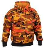 Mens Camo Hoodie Hooded Sweatshirt Pullover Orange Camouflage Rothco 3690