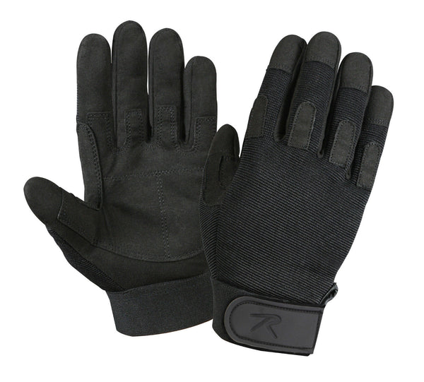 tactical duty gloves black lightweight all purpose rothco 3469