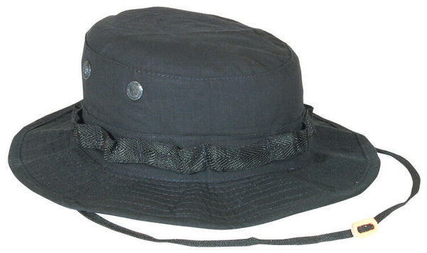 boonie hat black rip stop various sizes fox outdoor 75-11