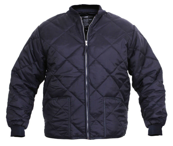 diamond quilted flight jacket navy blue military fashion jacket rothco 7160