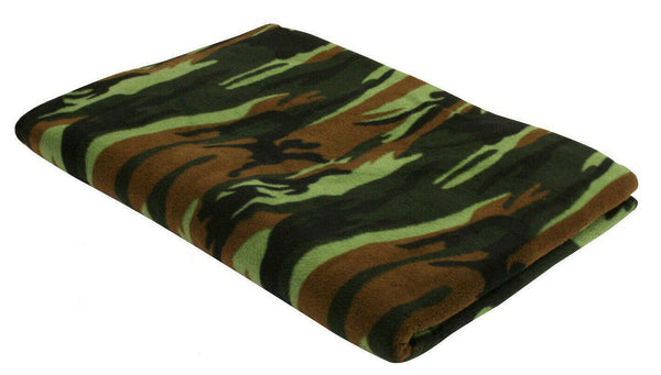 "Camo Fleece Blanket Warm Winter Blanket Woodland 60"" X 80"" Rothco 10269"