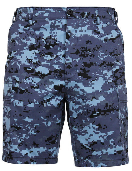 military style bdu shorts sky blue digital camo rothco 67313