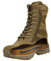 Army Coyote Brown AR-671 Military Boot Side Zipper Combat Boots Rothco 5763
