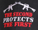 Second Amendment Protects The 1st Ballcap Hat Baseball Cap Rifles Rothco 9820