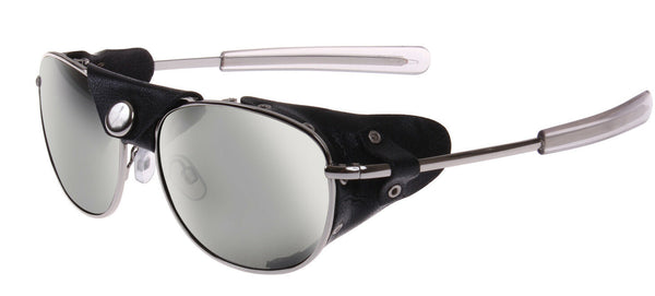 Chrome and Smoke Aviator UV400 Sunglasses with Wind Guards Rothco 20380