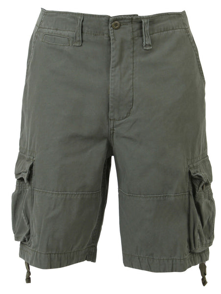 Mens Cargo Shorts Olive Drab Vintage Military Style Infantry Utility Rothco 2544