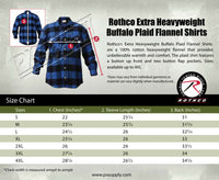 Mens Brawny Red Buffalo Plaid Flannel Shirt Long Sleeve Lightweight Rothco 1190