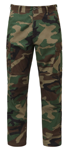 Woodland Camouflage BDU cargo pants military style rip stop rothco 5947