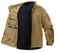 soft shell jacket ccw concealed carry tactical coat coyote brown rothco 55485