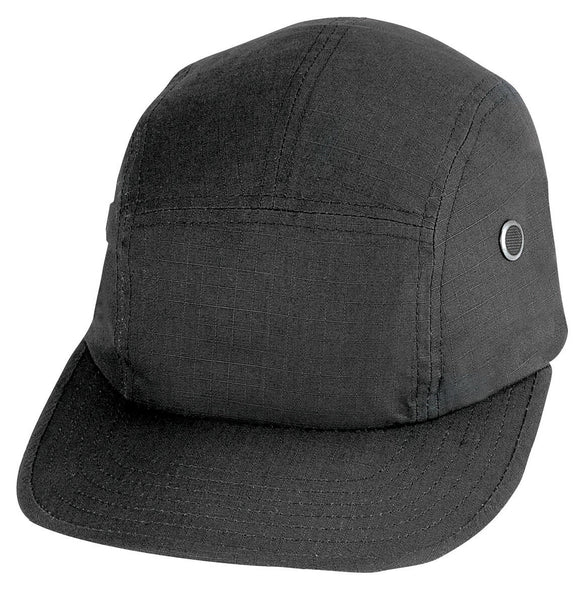 Street Cap Hat Military Look Black Cotton Rip Stop Rothco 9544