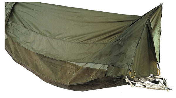 Jungle Hammock Insect Mesh Netting Coated Roof Olive Drab One Person Rothco 2361