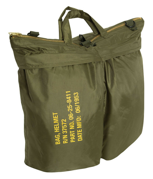 Printed Pilot Flyers Helmet Bag Vintage Style OD Military Shopping Bag 8105