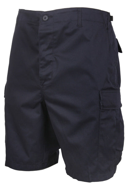 shorts bdu military style cargo midnight blue button fly mens rothco 65230