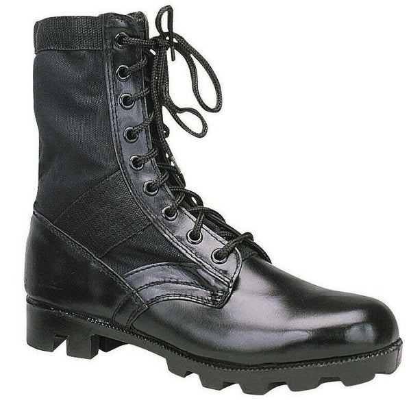 "Black Military Steel Toe Tactical 8"" Jungle Boots Rothco 5781"