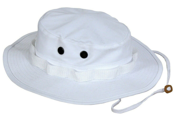 White Booniehat Military Style Sun Jungle Boonie Hat Rothco 5832
