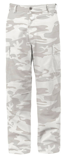 White Snow Military BDU Cargo Pants Fatigue Trouser Camo Pant Rothco 4936