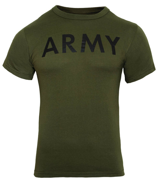 US Army PT Style T-shirt Olive Drab Green Cotton Polyester Blend Rothco 60136