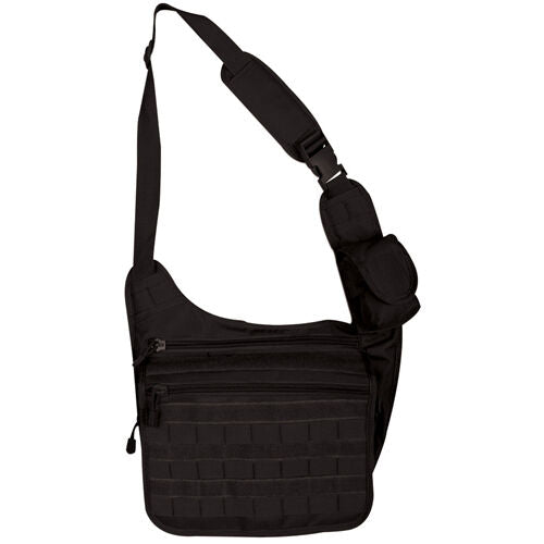 tactical messenger bag black molle nylon fox tactical 51-331