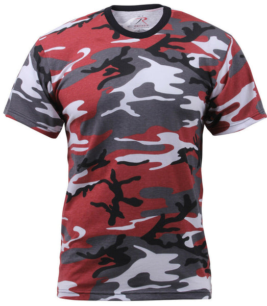t-shirt camo red cotton poly blend camouflage rothco 6006