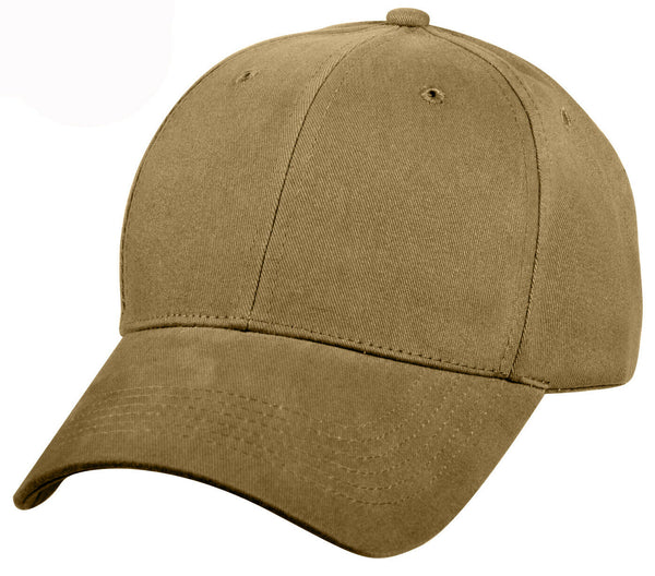 Baseball Cap Hat Coyote Brown Low Profile Cap Cotton Twill Ballcap Rothco 8177