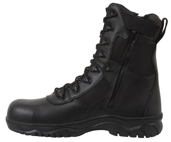 Black Military Tactical Boot Forced Entry Boots Protective Toe Rothco 5063