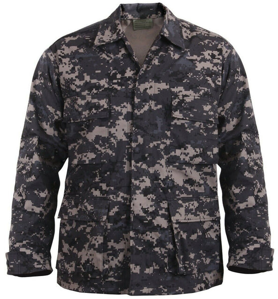 Tactical BDU Shirt Subdued Urban Digital Camo Military Style Rothco 9630