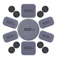 12 Pcs Tactical Helmet Replacement Pads Foam Padded Liner Universal Kit Set 1850