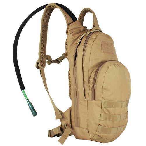 Compact Modular Tactical Hydration Pack Coyote Brown Backpack Fox 56-358