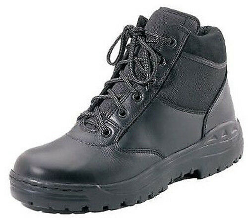 black public safety forced entry leather tactical boots rothco 5054