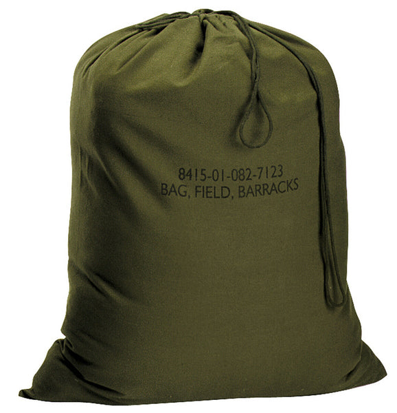 "Laundry Bag Military Barracks Canvas Bag Olive Drab 18"" x 27"" Rothco 2574"