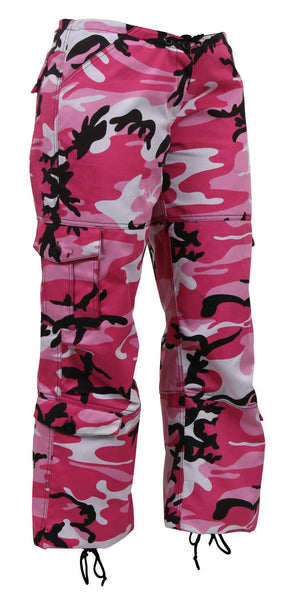 Womens Camo Pants Pink Camouflage Paratrooper Style Fatigues Rothco 3781