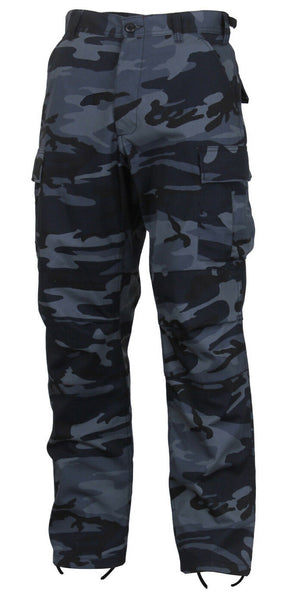 Dark Blue Camouflage Military BDU Cargo Bottoms Fatigue Trouser Camo Pants 4712
