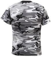 Kids Camo Boys T-shirt City Urban Black White Camouflage Youth Tee Shirt 6790