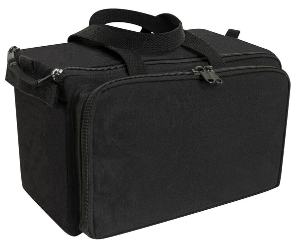 Tactical Black Canvas Range Shooting Bag Top Carry Handles Rothco 3509