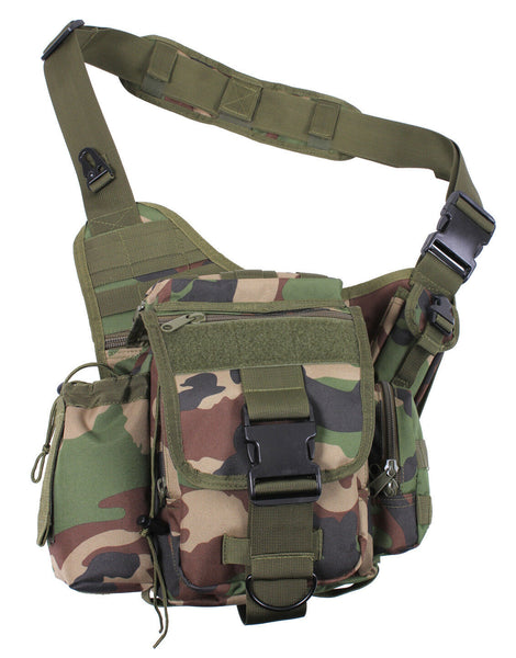 tactical shoulder bag modular molle woodland camo advanced pack rothco 2738