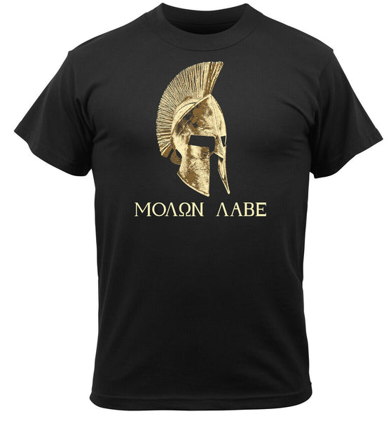 Come And Take It T-shirt Molon Labe Sparta Spartans Black Tee Shirt Rothco 61160
