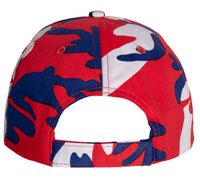 Low Profile Camo Cap USA Red Blue White Camouflage Baseball Hat Rothco 3561