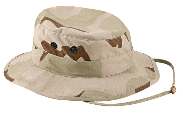 Tri Color Camo Military Wide Brim Bucket Camping Hunting Boonie Hat Rothco 5824
