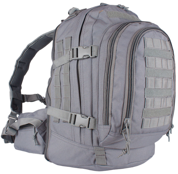 gray backpack shadow grey tactical duty pack military style fox outdoor 56-5609
