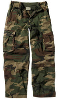 Boys Kids Camo Cargo Pants Woodland Camouflage Paratrooper Fatigues Rothco 2546