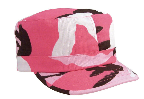 Womens Fatigue Cap Hat Military Style Pink Camo Adjustable Rothco 1152