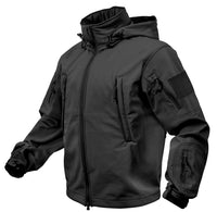 Black Tactical Soft Shell Jacket Waterproof Windproof Special Ops Rothco 9767