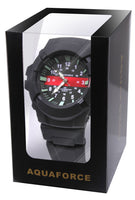 fire dept thin red line watch aquaforce water resistant rubber band rothco 4391