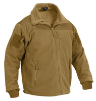 Tactical Military Style Fleece Jacket Special Ops Black Coyote Rothco 96680